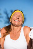 Happy confident active fit mature woman Royalty Free Stock Image