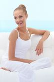 Happy confident beautiful woman Royalty Free Stock Images