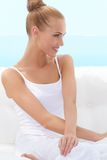 Happy confident beautiful woman Stock Photography