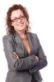 Happy confident businesswoman Stock Photography