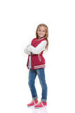 Happy confident fashion child Royalty Free Stock Photos