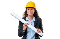 Happy confident young female architect Royalty Free Stock Photo