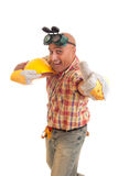 Happy construction worker Stock Photos