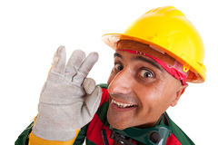 Happy construction worker Stock Photo
