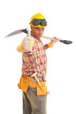 Happy construction worker Royalty Free Stock Photo
