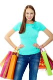 Happy consumer Stock Photo