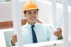 Happy contractor Stock Photography