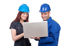 Happy contruction engineers Royalty Free Stock Image