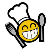Happy cook. Smiling face ready to eat Royalty Free Stock Photo