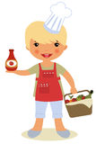 Happy cook. A vector illustration of a cute little cook Stock Image