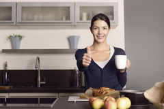 Happy cook giving a thumbs up Stock Images