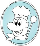 Happy cook icon Royalty Free Stock Photography