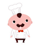 Happy cook isolated on white. Cartoon cook character. Vector Illustration Royalty Free Stock Photography