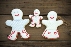 The Happy Cookie Family Royalty Free Stock Image
