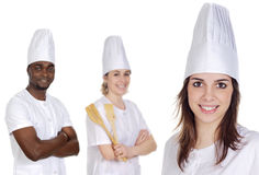 Happy cooks Team Stock Photo