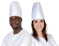 Happy cooks team Stock Images