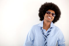 Happy cool afro man Stock Photography