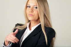 Happy cool businesswoman Stock Image