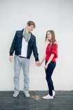 Happy teen couple Royalty Free Stock Photography