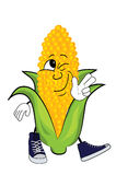 Happy corn cartoon Royalty Free Stock Image