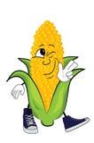 Happy corn cartoon Royalty Free Stock Image