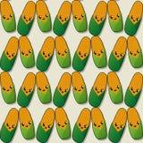 Happy corn pattern. Happy corn seamless pattern for design Stock Image