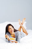 Happy cornflake girl Stock Image