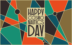 Happy cosmonautics day card Royalty Free Stock Images