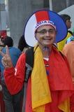 Happy Costa Rica soccer fan Royalty Free Stock Photography
