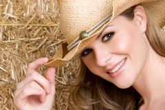 Happy Country Girl Royalty Free Stock Photo