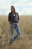 Happy Country Girl stock photography