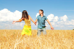 Happy couple. Young couple spends time outdoors Stock Photo