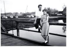 Happy couple 1956 royalty free stock photos