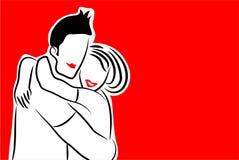 Happy couple vector illustration