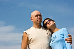Happy couple. Of young people Stock Photo