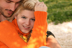 Happy couple Stock Images