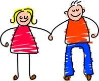 Happy couple royalty free illustration