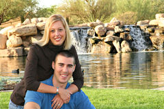 Happy Couple. Outdoor Portrait of Cute Couple Stock Image