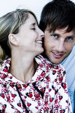 Happy couple. Happy young couple in love Stock Image
