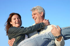 Happy couple. Couple having fun Stock Photos