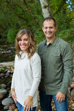 Happy Couple Along McKenzie River Royalty Free Stock Image