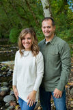 Happy Couple Along McKenzie River Royalty Free Stock Images