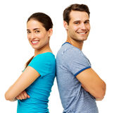 Happy Couple With Arms Crossed Royalty Free Stock Photo
