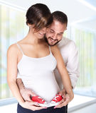Happy couple awaiting baby Royalty Free Stock Photography