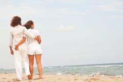 Happy couple on the beach Stock Photos