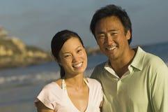 Happy Couple On Beach Stock Photos