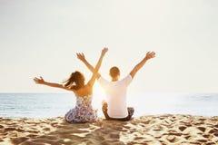 Happy couple beach holidays concept Royalty Free Stock Photo