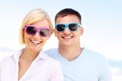 Happy couple at the beach Stock Photo