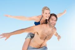 Happy couple at beach Royalty Free Stock Photos