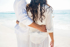Happy couple on the beach Royalty Free Stock Images